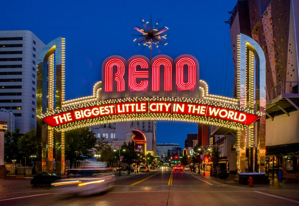 Iconic welcome sign, Reno.