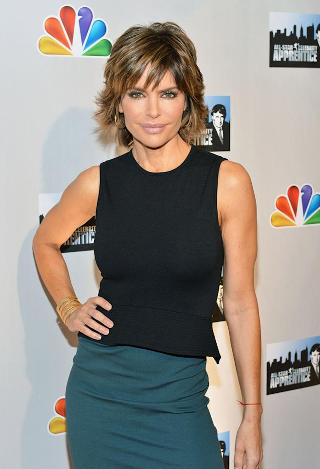 "NEW YORK, NY - OCTOBER 12:  Lisa Rinna attends the ""Celebrity Apprentice All Stars"" Season 13 Press Conference at Jack Studios on October 12, 2012 in New York City.  (Photo by Slaven Vlasic/Getty Images)"