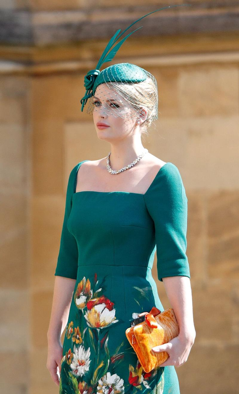 Lady Kitty Spencer attended the wedding of her cousin Prince Harry and Meghan Markle