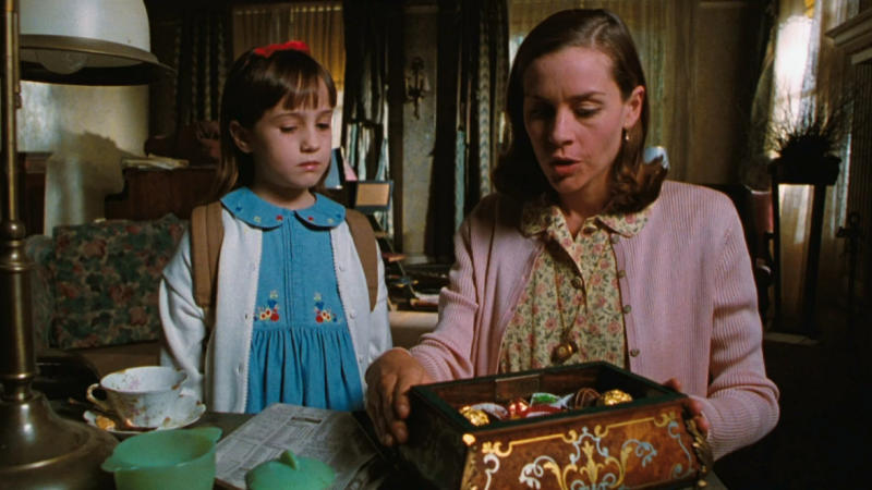 Mara Wilson and Embeth Davidtz in the 1996 version of 'Matilda'. (Credit: TriStar Pictures)