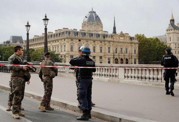 PHOTO: French police secure the area in front of the Paris Police headquarters in Paris, Oct. 3, 2019. (Philippe Wojazer/Reuters)