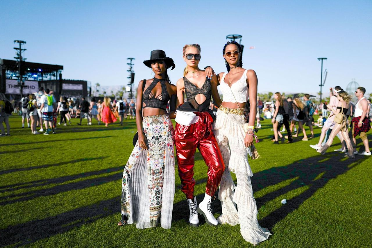 <p><strong>When:</strong> April 10-12 & 17-19<br><strong><br>Where:</strong> Indo Valley, CA</p><p><strong>Vibe:</strong> Coachella is the Beyoncé of music festivals—an apt descriptor considering how Bey's 2018 no-holds-barred show is the most-viewed live performance on YouTube. Since its start in 1999, Coachella has grown to become a juggernaut, attracting cream-of-the-crop headliners from a diverse range of music genres—from rap to rock to country—throughout the decade. The fashion choices, however, have remained pretty consistent. They essentially follow the laid-back, bohemian spirit akin to Woodstock, albeit with a modern twist. Throughout the abbreviated fete, expect to see cropped billowy or mesh tops, fringe jackets, short shorts, crochet dresses and separates, circle-frame sunglasses, and wide-brim hats. </p>