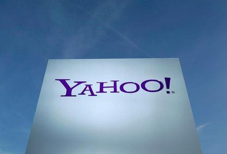 FILE PHOTO - A Yahoo logo in front of a building in Rolle