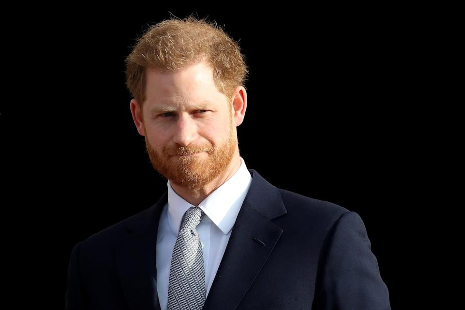 LONDON, ENGLAND - JANUARY 16: Prince Harry, Duke of Sussex, the Patron of the Rugby Football League hosts the Rugby League World Cup 2021 draws for the men's, women's and wheelchair tournaments at Buckingham Palace on January 16, 2020 in London, England. The Rugby League World Cup 2021 will take place from October 23rd through to November 27th, 2021 in 17 cities across England. (Photo by Chris Jackson/Getty Images)