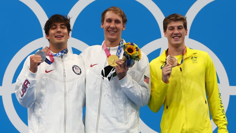 Swimming - Men's 400m Individual Medley - Medal Ceremony