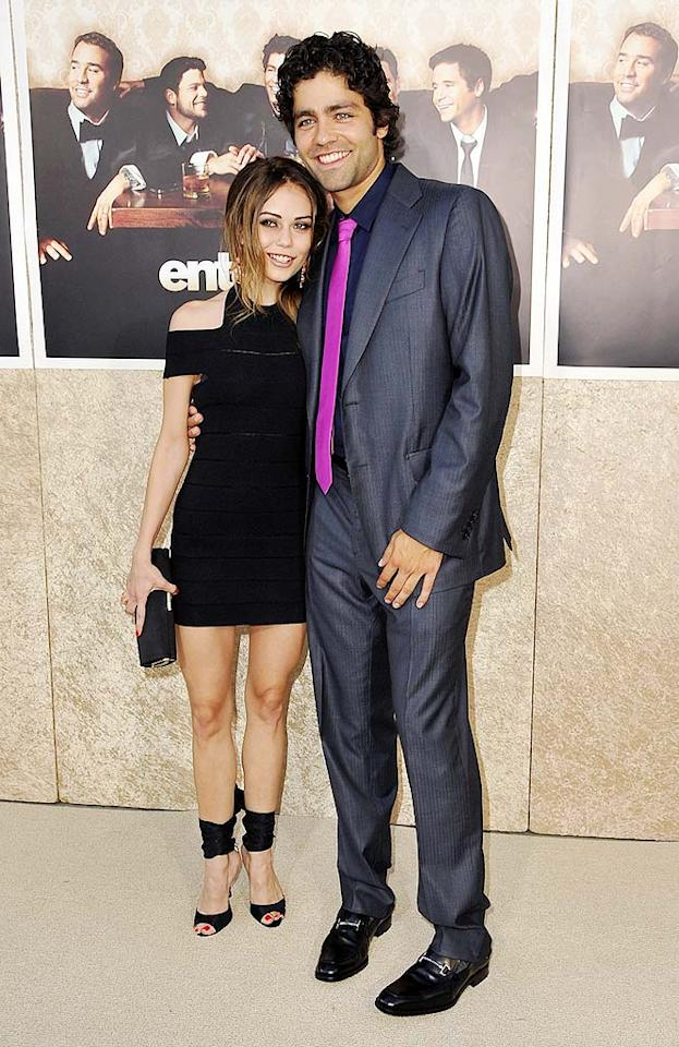 "Birthday boy Adrian Grenier (he turns 33 today) posed with Alexis Dziena, who appears in the premiere episode as a new love interest for Eric. Jordan Strauss/<a href=""http://www.wireimage.com"" target=""new"">WireImage.com</a> - July 9, 2009"