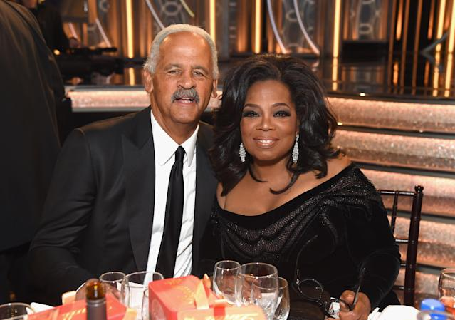 Stedman Graham was by Oprah Winfrey's side when she was honored at the Golden Globes in January. However, they skipped the red carpet. (Photo: Michael Kovac/Getty Images for Moët & Chandon)