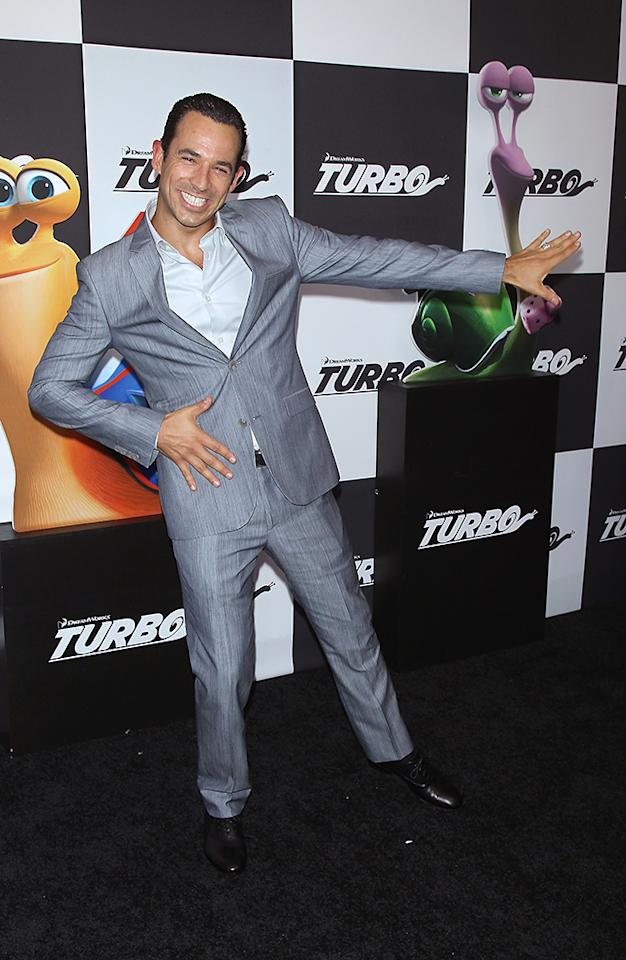 """NEW YORK, NY - JULY 09: Race Car Driver Helio Castroneves attends the """"Turbo"""" New York Premiere at AMC Loews Lincoln Square on July 9, 2013 in New York City.  (Photo by Jim Spellman/WireImage)"""