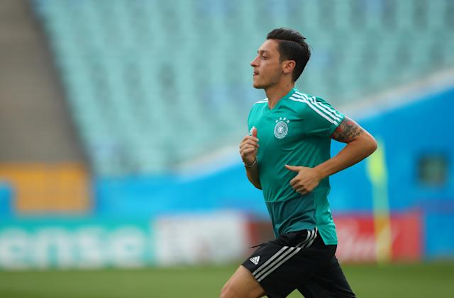 Soccer Football - World Cup - Germany Training - Fisht Stadium, Sochi, Russia - June 22, 2018 Germany's Mesut Ozil during training REUTERS/Hannah McKay