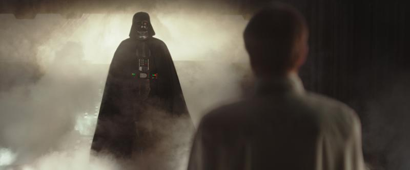 Darth Vader in 'Rogue One: A Star Wars Story'. (Credit: LucasFilm)