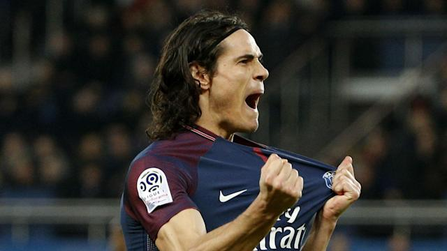 Edinson Cavani scored two to pad out goals from Julian Draxler, Neymar and Angel Di Maria as Paris Saint-Germain defeated Strasbourg