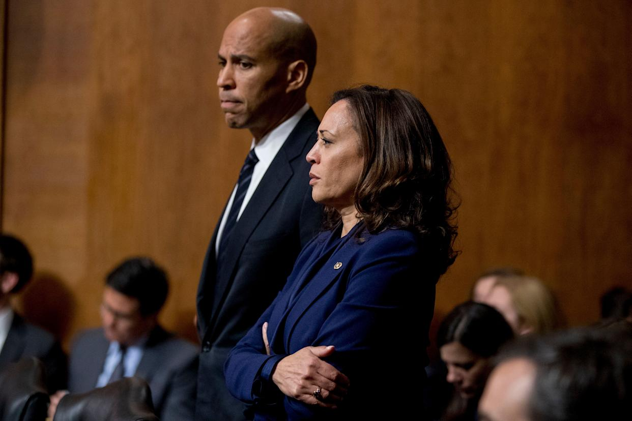 Sens. Cory Booker and Sen. Kamala Harris have published plans to give tax credits to rent-burdened families, but have not proposed increasing rental assistance vouchers. (Photo: ASSOCIATED PRESS)