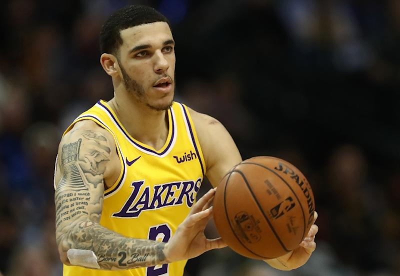 6eaf937d3a7 Lakers  Ball to miss 4-6 weeks with sprained ankle