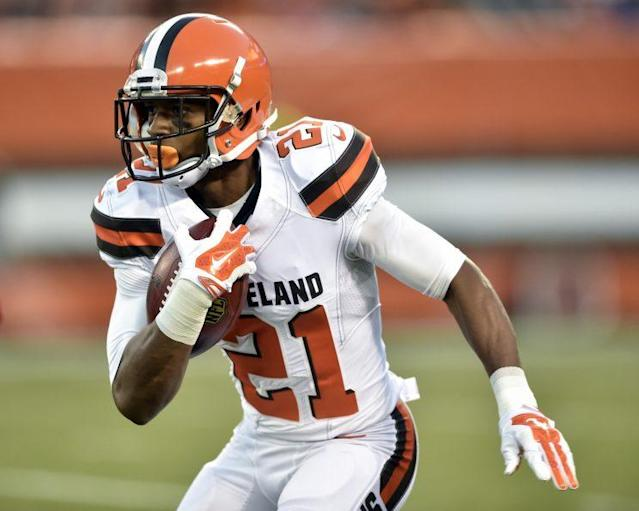 "Former Browns cornerback <a class=""link rapid-noclick-resp"" href=""/nfl/players/27536/"" data-ylk=""slk:Justin Gilbert"">Justin Gilbert</a> has been suspended four games by the NFL. (AP)"