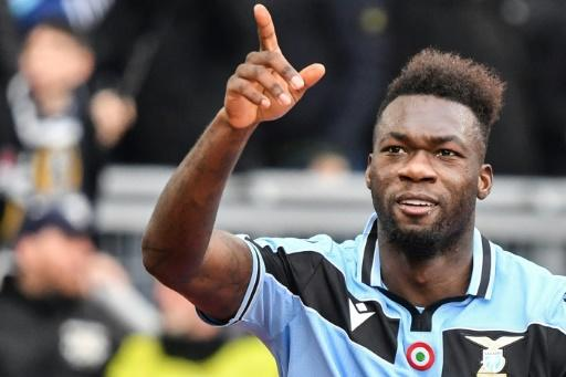Ecuadorian Felipe Caicedo got Lazio off the mark at the Stadio Olimpico