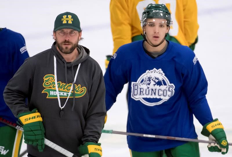 Bus crash survivors drop the puck on Humboldt Broncos new season