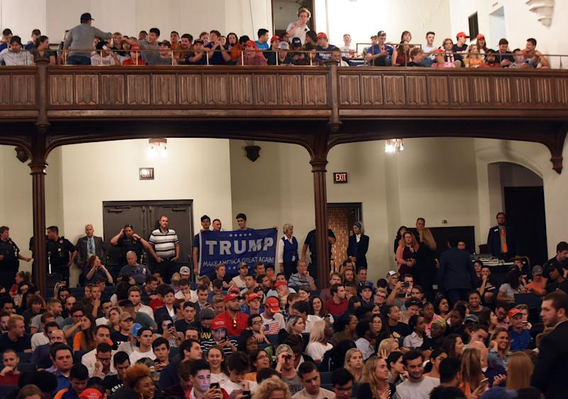 Hundreds of students attended the event featuring Trump Jr. and Guilfoyle.  (Photo: SOPA Images via Getty Images)