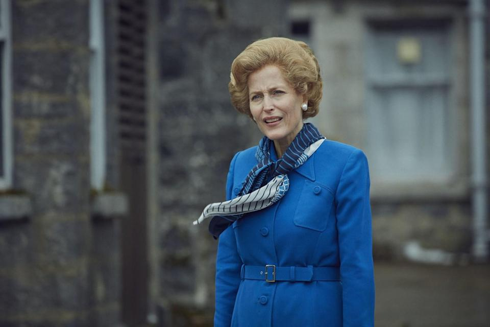 """Gillian Anderson is an Emmy favorite for her portrayal of former British Prime Minister Margaret Thatcher in """"The Crown."""""""
