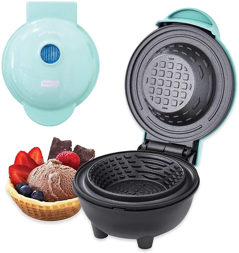 <p>Whether you want to make a waffle bowl for ice cream or a flour bowl for burritos, the <span>Dash Mini Bowl Maker </span> ($20) is all you need. It's perfect for entertaining and serving up the coolest ice cream bar. </p>
