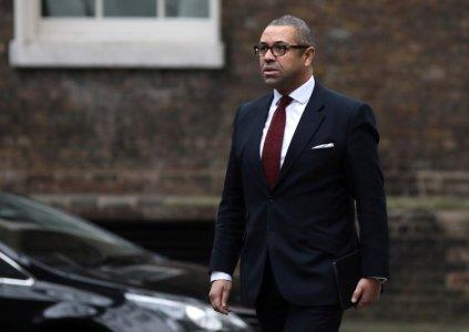 FILE PHOTO: James Cleverly arrives at 10 Downing Street, London, Britain January 8, 2018. REUTERS/Simon Dawson