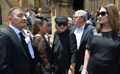 Friends, family and former members of AC/DC attended a funeral from Malcolm Young on Tuesday.