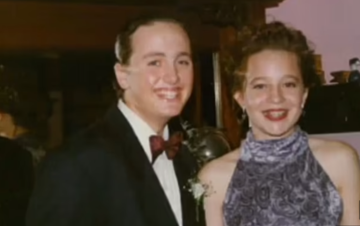 carrie bickmore high school formal throwback photo