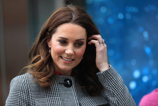 Kate Middleton up close to her face