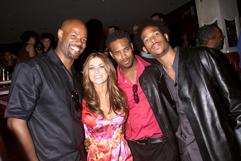 Keenan Ivory Wayans, Carmen Electra, and Shawn and Marlon Wayans at the after party for the New York premiere of their latest film 'Scary Movie. The party was held at Laurabelle's. Photo: Scott Gries/Getty Images