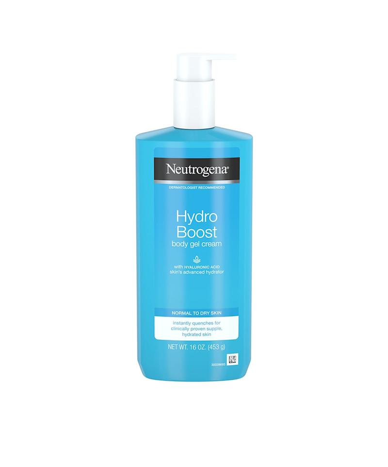 Neutrogena Hydro Boost Unscented Gel Body Cream for Dry Skin, Hyaluronic Acid, 453g