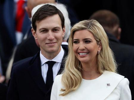 FILE PHOTO: Ivanka Trump and husband Jared Kushner arrive at inauguration ceremonies swearing in Donald Trump as the 45th president of the United States on the West front of the U.S. Capitol in Washington, U.S., January 20, 2017.  REUTERS/Carlos Barria/File Photo