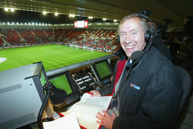 How we all know him: Martin Tyler working for Sky