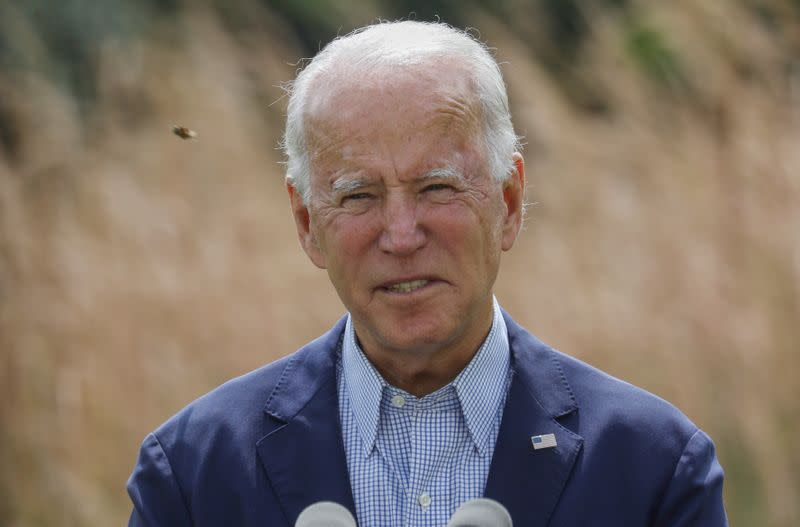FILE PHOTO: Democratic U.S. presidential nominee Biden holds climate change campaign event in Wilmington, Delaware