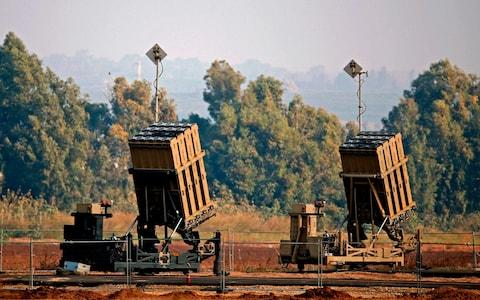 The Iron Dome missile system intercepted around 100 rockets, according to Israel - Credit: JACK GUEZ/AFP/Getty Images