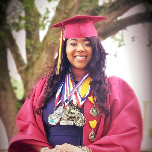 Normandie Cormier, 18, had to narrow down her options after receiving more than 100 acceptance letters and millions in scholarships.