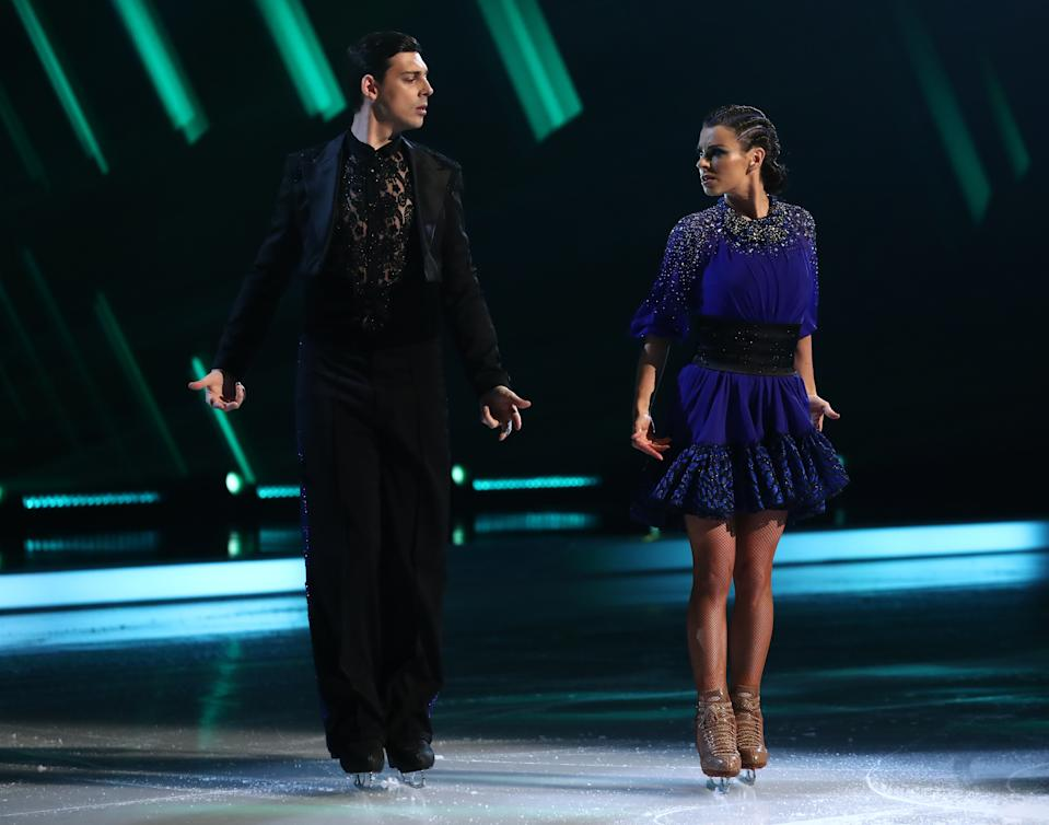 Editorial use only  Mandatory Credit: Photo by Matt Frost/ITV/Shutterstock (11747857m)  Matt Richardson and Vicky Ogden  'Dancing On Ice' TV show, Series 13, Episode 4, Hertfordshire, UK - 07 Feb 2021