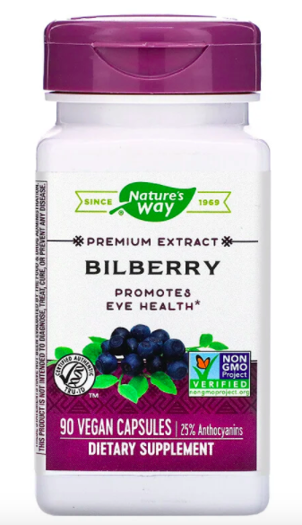 PHOTO: iHerb. Nature's Way, Bilberry, 90 vegan capsules