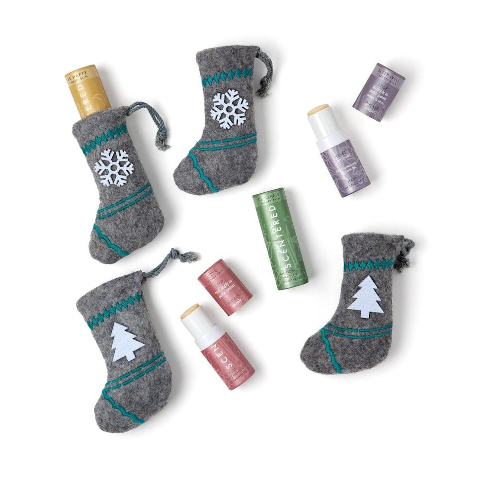 <p>How cute is this <span>Aromatherapy Balm Stocking Stuffer & Ornament</span> ($25)?</p>
