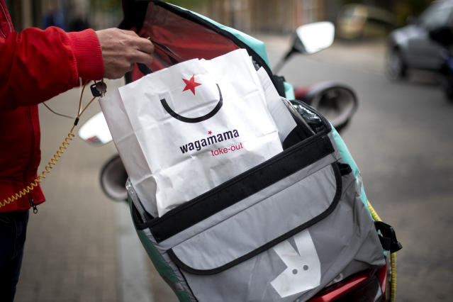 Many hospitality workers have already had to find temporary work as delivery drivers. Photo: Victoria Jones/PA