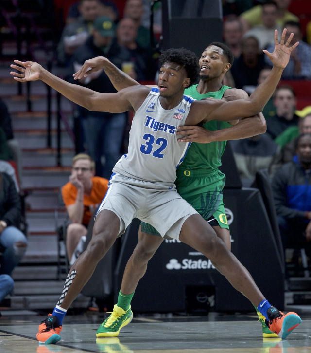James Wiseman(圖前要位者)。(AP Photo/Craig Mitchelldyer)