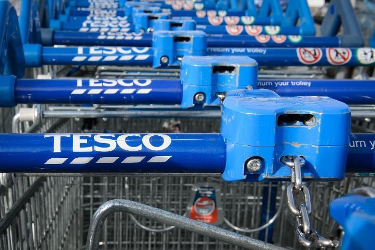 Tesco shares plunged after it was revealed that its profits had been overstated (AFP Photo/Leon Neal)
