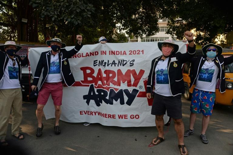 A group of six expats -- four Brits working in three Indian cities, an American and an Australian -- made the journey to Chennai to cheer England against India in the second Test