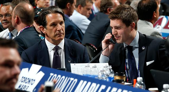 Kyle Dubas being named GM isn't going to make the Maple Leafs unravel. (Bruce Bennett/Getty Images)