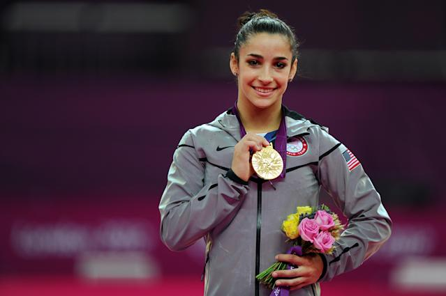 Aly Raisman is a three-time gold medalist. (Getty)