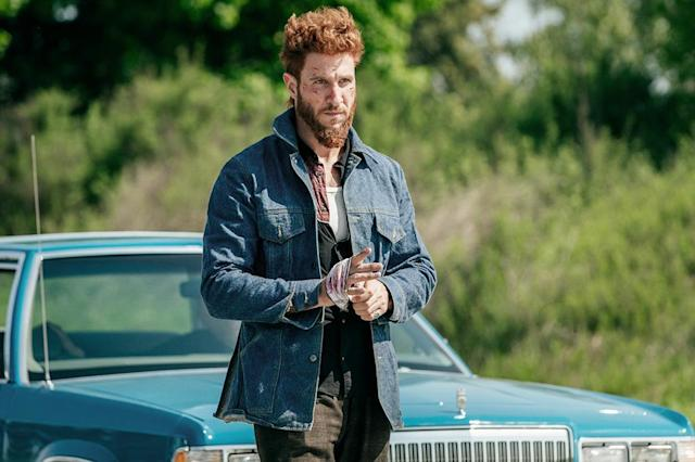 <p>Pablo Schreiber as Mad Sweeney in Starz' <i>American Gods</i>.<br><br>(Photo: Starz) </p>