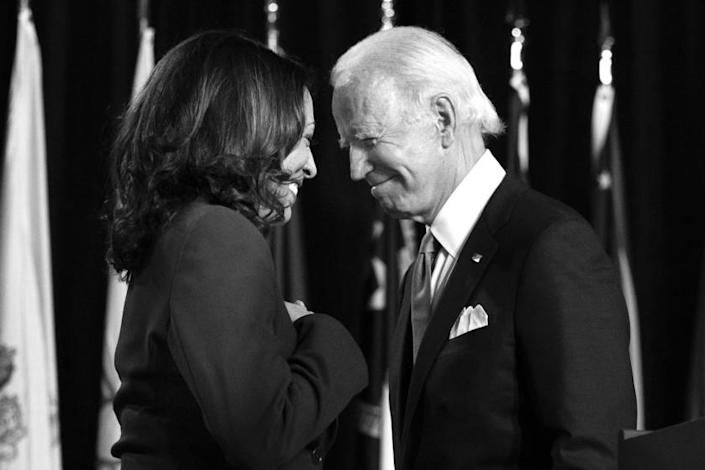 """The Los Angeles Times editorial board endorses the Democratic ticket: Joe Biden for president and Kamala Harris for vice president. <span class=""""copyright"""">(Carolyn Kaster / Associated Press)</span>"""