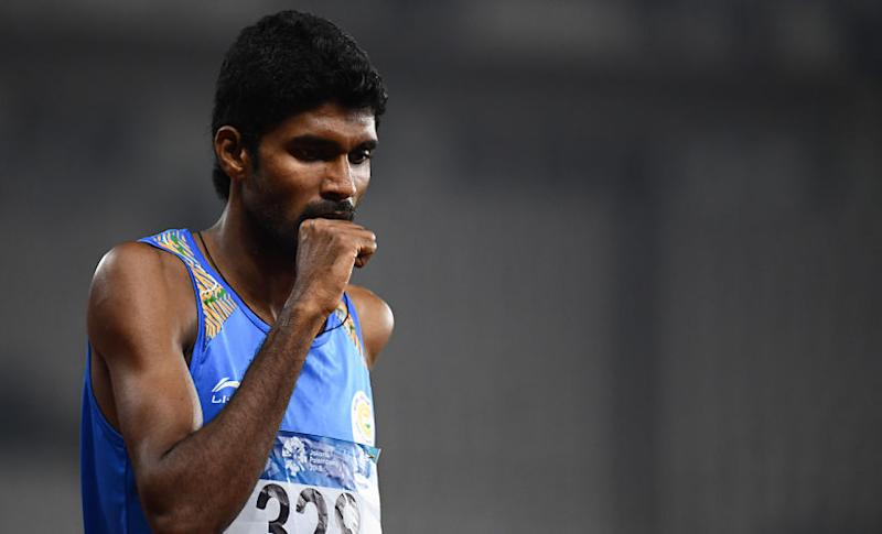 Jinson Johnson's main rival in the 800m should be Jamal Al-Hayrani of Qatar who is the leader in the Asian lists this season with his 1:46.22. Jewel Samad/AFP