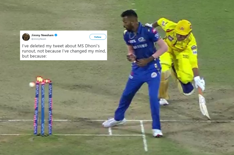 Why Jimmy Neesham Deleted His Tweet on Dhoni's 'Controversial' Run Out in IPL Final