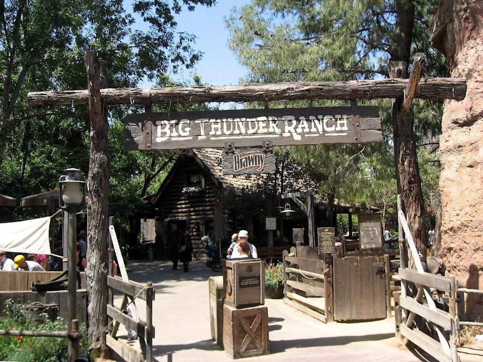 "<p>To capitalize on the continued popularity of Big Thunder Mountain Railroad, Disneyland transformed the Frontierland area previously known as Nature's Wonderland into this Western ranch in 1986, complete with a petting zoo and a frontier cabin. It also housed the all-you-can-eat Big Thunder Barbecue, where hungry tourists chowed down for decades. But cowpokes are no match for Jedi: In early 2016, Big Thunder Ranch hosted its last hoedown. A <a href=""http://www.slashfilm.com/disneyland-changes/"" rel=""nofollow noopener"" target=""_blank"" data-ylk=""slk:massive construction project"" class=""link rapid-noclick-resp"">massive construction project</a> will bring <i>Star Wars</i> Land to life on the site. <i>(Photo: Wikipedia)</i></p>"