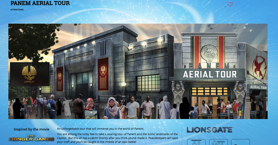 """<img alt=""""""""/><p>You could be making your way to Panem sooner than you think.</p> <p>Lionsgate announced on Tuesday the opening of a new 1.3 million square-foot (122,00 sqm) theme park in South Korea.</p> <div><p>SEE ALSO: <a rel=""""nofollow"""" href=""""http://mashable.com/2017/08/02/spamusement-park-japan/?utm_campaign=Mash-BD-Synd-Yahoo-Watercooler-Full&utm_cid=Mash-BD-Synd-Yahoo-Watercooler-Full"""">Spa-themed amusement park is real and will actually launch, as promised</a></p></div> <p>The park will be made up of seven zones, each devoted to a different Lionsgate-produced film.</p> <p>And of course, both the <em>Hunger Games </em>and <em>Twilight</em> will be getting their own zones.</p> <p>That's right — from the Cullens to the Capitol — the Lionsgate Movie World, which is scheduled to open in 2019, has it all.</p> <p>Visitors will be able to experience """"actual movie scenes through state-of the-art rides, attractions and reproduced streets and towns,"""" <a rel=""""nofollow"""" href=""""http://www.prnewswire.com/news-releases/lionsgate-and-landing-jeju-announce-plans-for-lionsgate-movie-world-at-jeju-shinhwa-world-300504977.html"""">according to a press release</a>.</p> <p>The park is set to be Korea's first international theme park and the largest of Lionsgate's theme parks worldwide.</p> <p>Lionsgate has also announced that films like <em>Robin Hood</em> and <em>Now You See Me</em> will also have their own zones — meaning that there are still three mystery zones unaccounted for.</p> <p>Though Lionsgate may not have as many films under its belt as Disney or Universal, there are some potential films that we could see having their own theme park zones.</p> <p>The <em>Saw</em> series for example, could work pretty well as a horror zone.</p> <p>And we could see a 'It's a small world'-esque version of <em>La La Land</em>. The possibilities are endless.</p> <p>Lionsgate had in 2015 announced a partnership with Dubai's <a rel=""""nofollow"""" href=""""https://www.motiongatedubai.com/EN/media-center/du"""