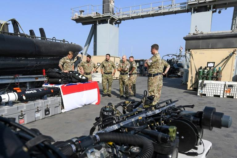 British forces are taking part in the IMX along with 49 other countries (AFP Photo/KARIM SAHIB)